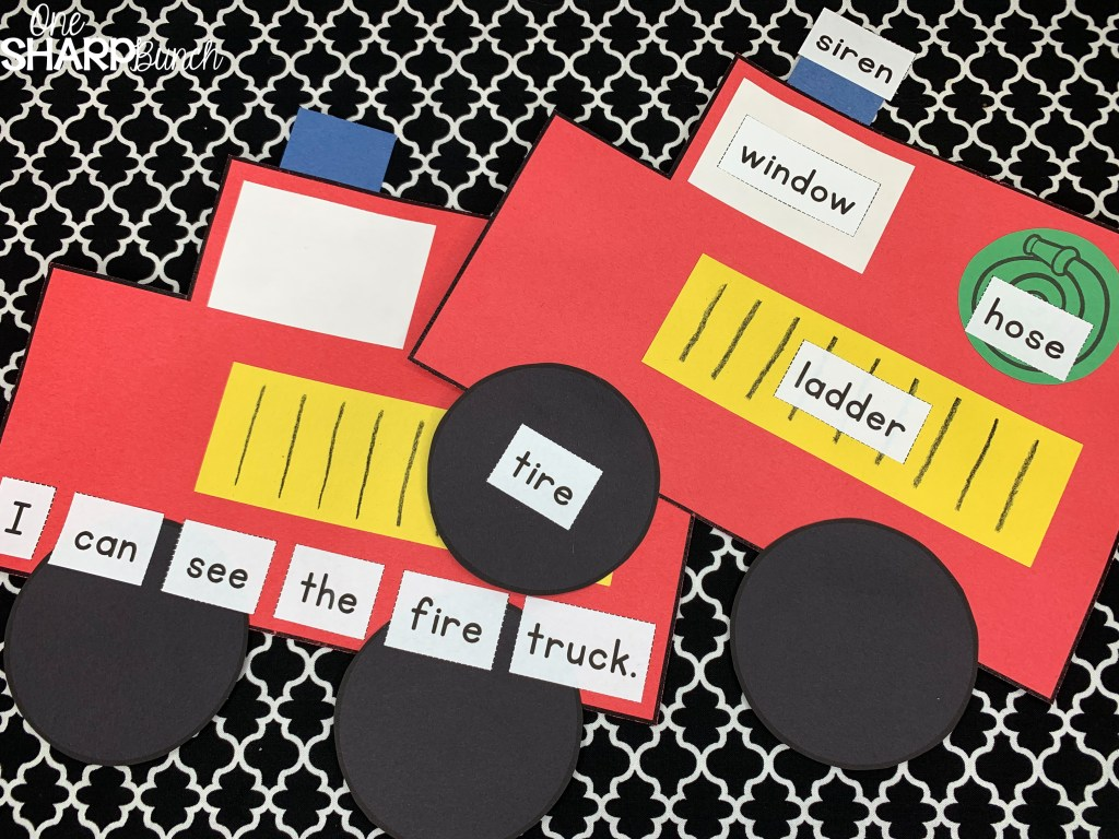 Grab the FREE firefighter thank you card and celebrate Fire Safety Week with this adorable fire truck craft! Plus, learn how this fire safety craft and other fire safety activities incorporate literacy and reading strategy instruction, while teaching fire safety rules and fire safety prevention tips! #firesafety #firesafetyweek #firesafetyprevention #fireprevention #firesafetycrafts #preschool #kindergarten #firstgrade