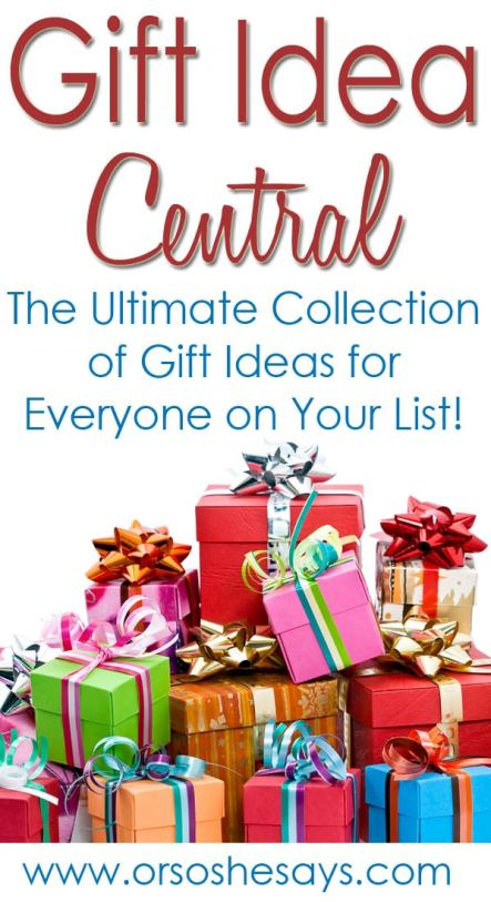 Best pin ever! This is an AMAZING round-up of gift ideas! I literally use this every year and look forward to the Christmas She Picks! series. Gift Idea Central on 'Or so she says...'