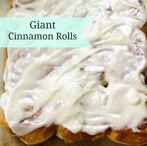 Giant Cinnamon Rolls