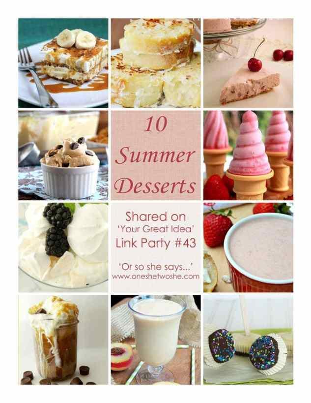 10 summer dessert recipes
