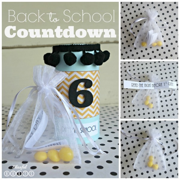 Back to School Countdown Collage
