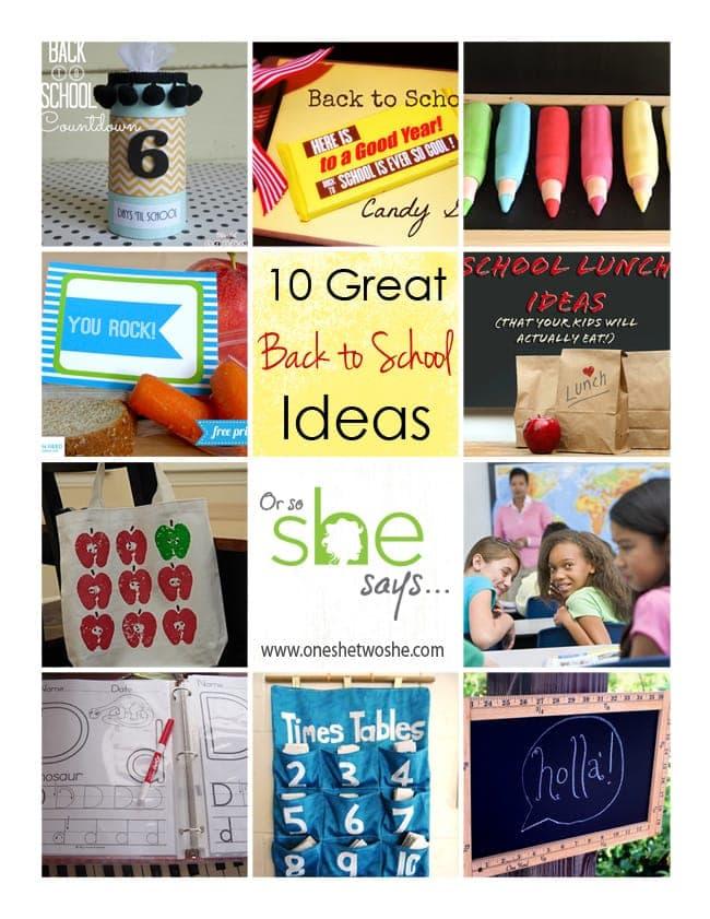 Back to School Ideas