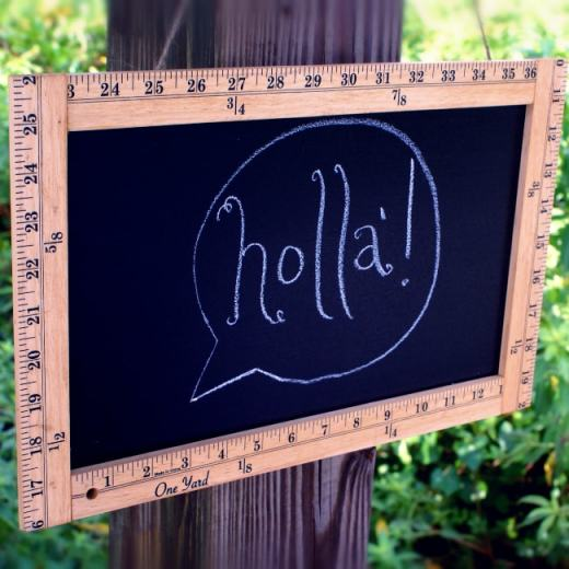 Ruler-Frame Chalkboard Sign Tutorial