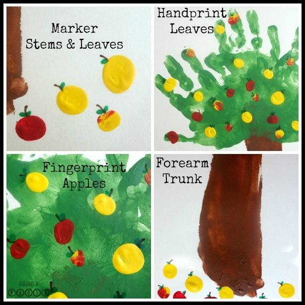Handprint Apple Tree Art Project