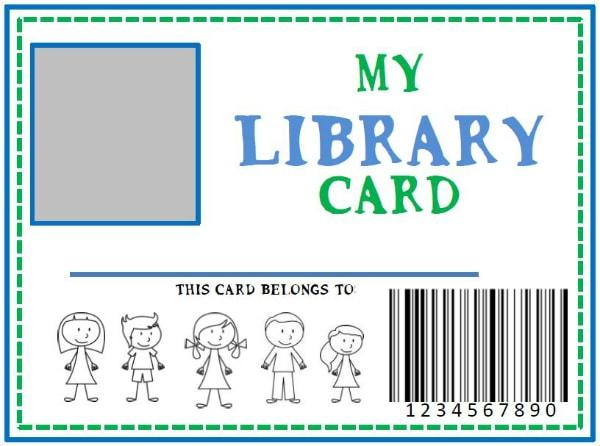 Family Library DIY Pretend Library Card she Kristina