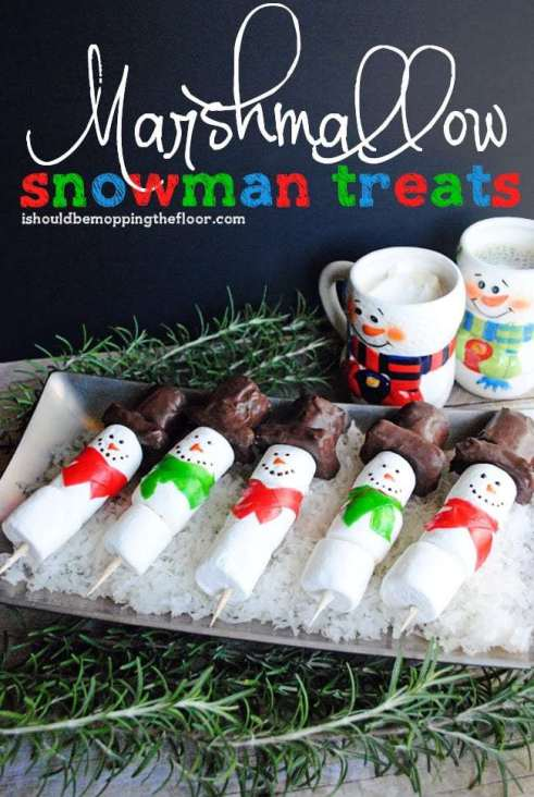 marshmallow snowman treats #shop