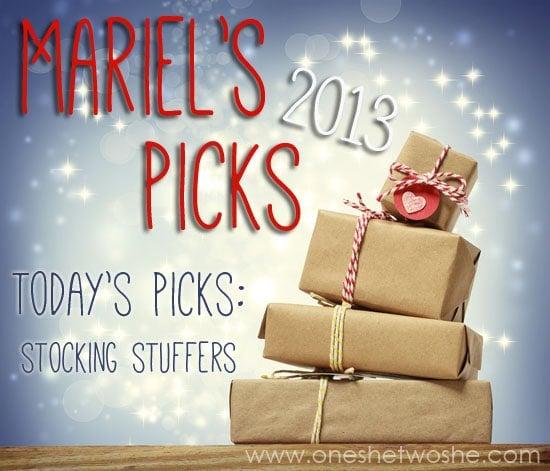 Stocking Stuffer Ideas ~ Mariel's Picks 2013 www.oneshetwoshe.com