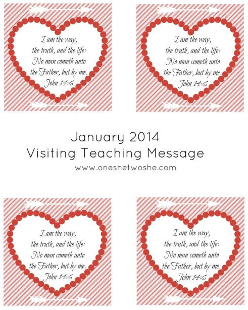 January 2014 Visiting Teaching Message Printable www.oneshetwoshe.com