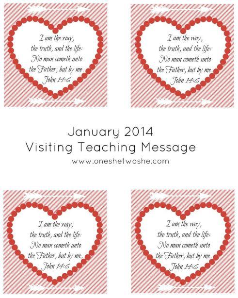 January 2014 Visiting Teaching Message Printable www.oneshetwoshe.com