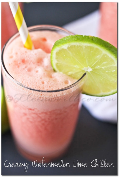 Creamy Watermelon Lime Chiller from Gina @ Kleinworth & Co.