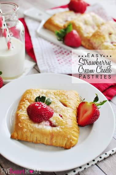 Easy Strawberry Cream Cheese Pastries | FiveHeartHome.com