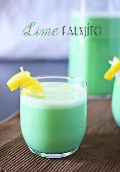 Lime Fauxjito from Gina @ Kleinworth & Co.