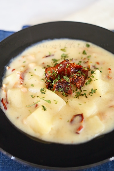 Slow Cooker Chunky Clam Chowder from Kleinworthco.com