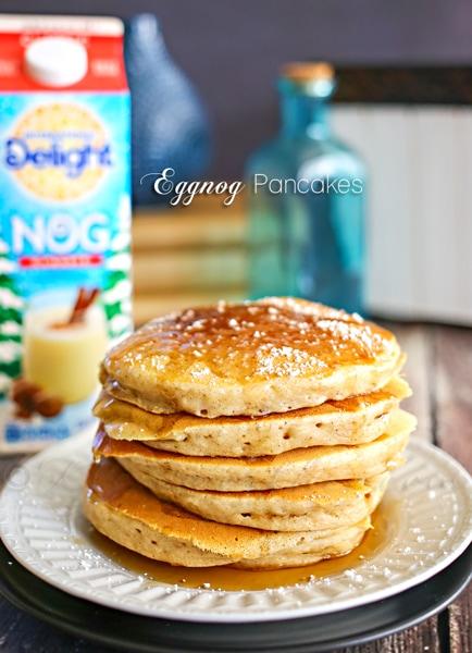 Eggnog Pancakes from Gina @ Kleinworth & Co.