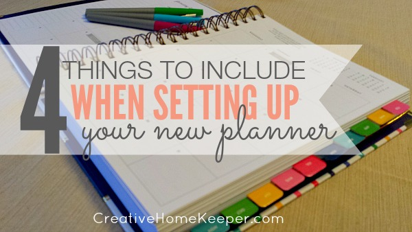 4 things to include new planner