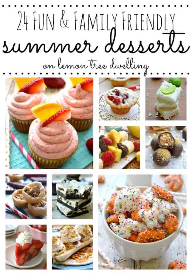 24 Summer Desserts Collage