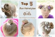 top 5 bun hairstyles girls