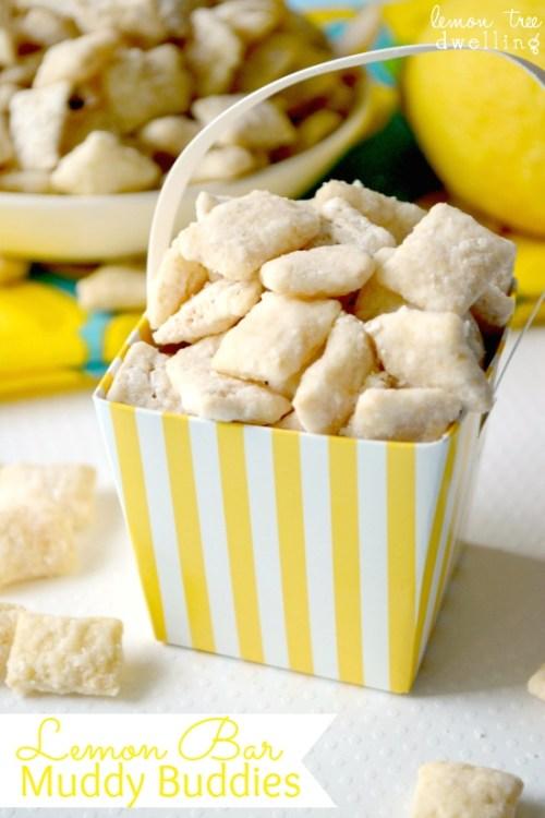 Lemon Bar Muddy Buddies  & 24  Fun Summer Desserts!