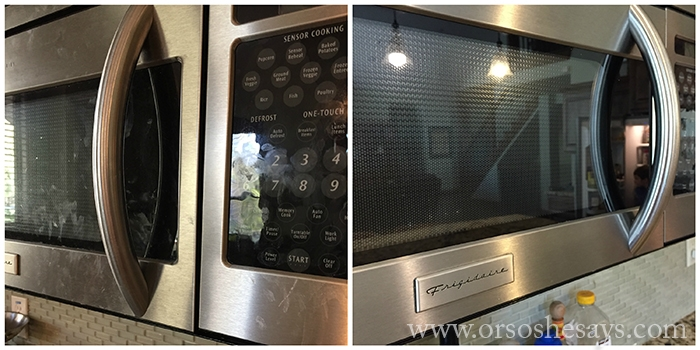 Microwave Before and After With Norwex