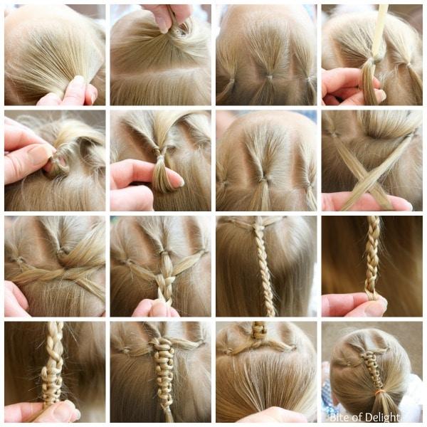 Triple Flip Push Up Braid | Hair Tutorial | Little Girl Hairstyles