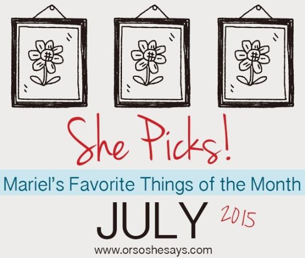 Mariel's top 5 favorite things of the month!