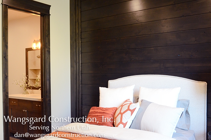 I love this wall! Lots and lots of finish carpentry ideas from Mariel's husband, a Utah finish carpenter!