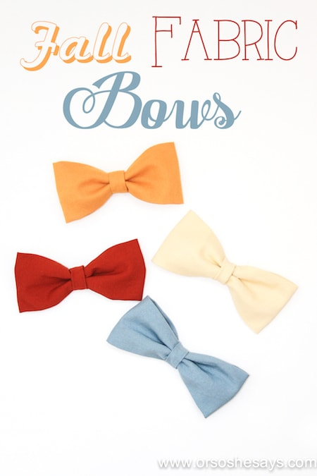 fall fabric hair bows