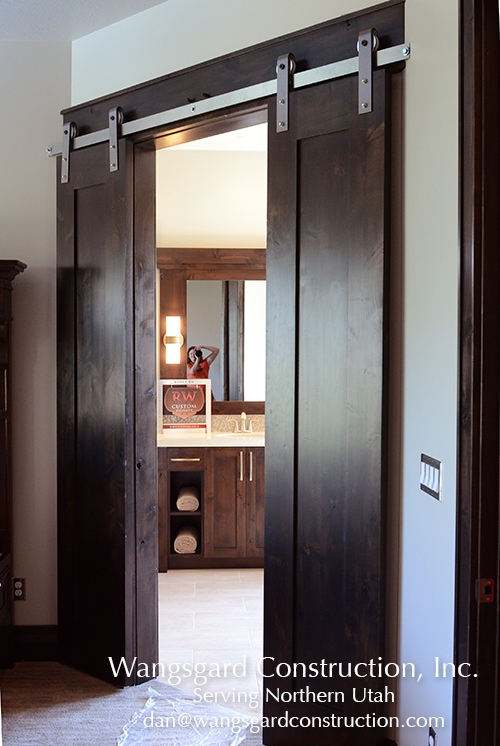 I love the sliding door! Lots and lots of finish carpentry ideas from Mariel's husband!