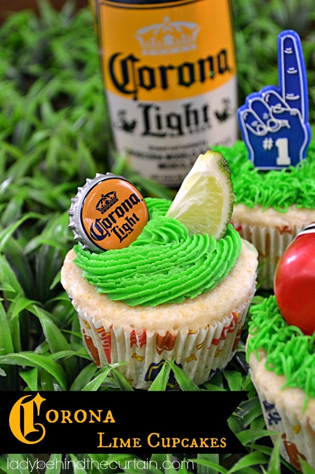 Corona Lime Cupcakes - Ultimate Tailgating Series