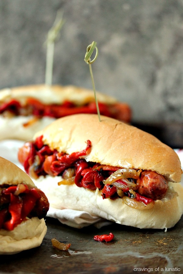 Grilled Sausage with Peppers and Onions Recipe