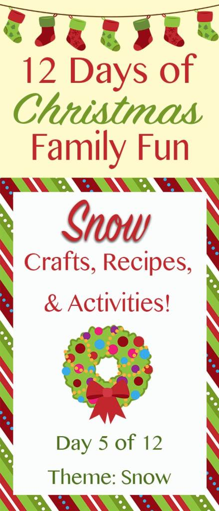 SNOW Christmas Crafts, Recipes, and Activities! ~ 12 Days of Christmas Family Fun