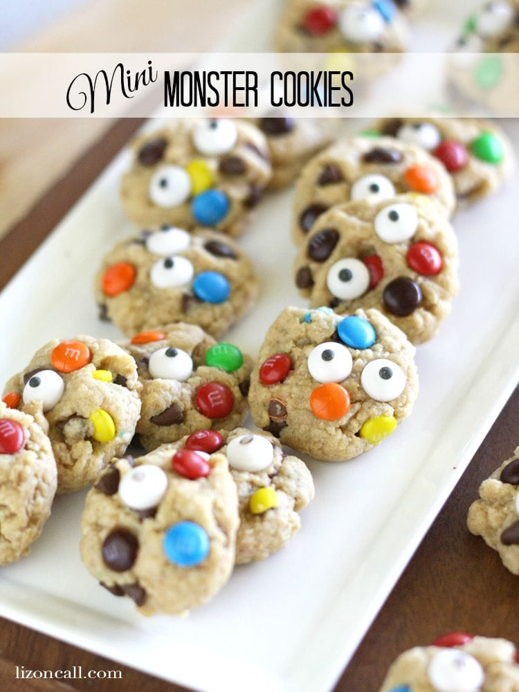 Mini Monster Cookies by Or So She Says