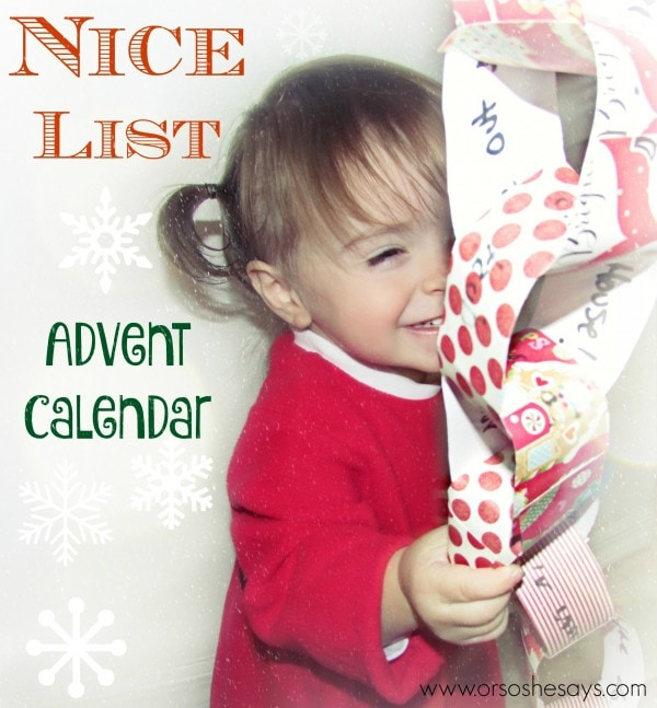Nice List Advent Calendar - A Fun DIY for the Kids!