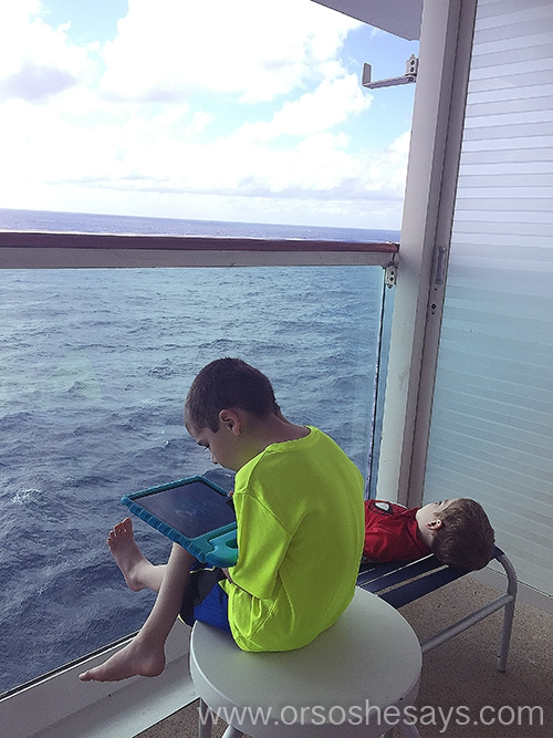 Boys DeckMariel, mother of 6, has been on several cruises with her kids.  In this post, she tells all about their recent cruise and swears it's the best family cruise out there!  www.orsoshesays.com