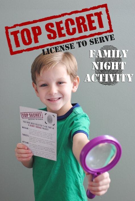 Family Night Activity - Secret Service