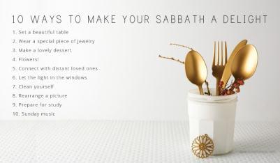10 Ways to Make Your Sabbath a Delight