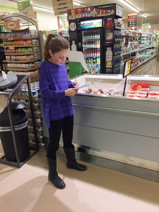 Oooooh, I love these Grocery Store Games on 'Or so she says...' My kids love printing them and bringing them to the grocery store with me. They love that they're entertained and I love getting my shopping done! This is the Adjectives Grocery Store Game but there are others too. www.orsoshesays.com