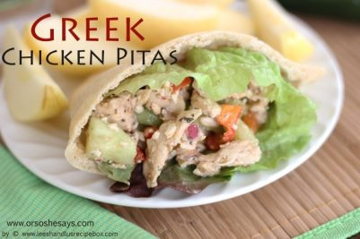 Greek Chicken Pita - Packed Full of Flavor!