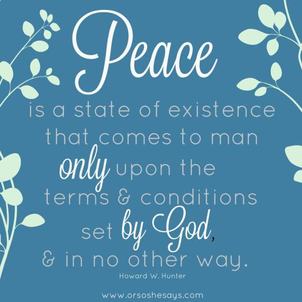 Peace Only By God