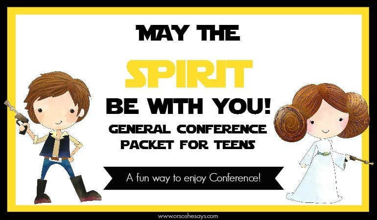 General Conference Packet for TEENS! This is a fun way to help your teens enjoy watching General Conference!