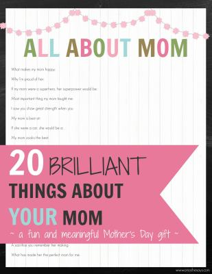 Mother's Day Gift Idea printable