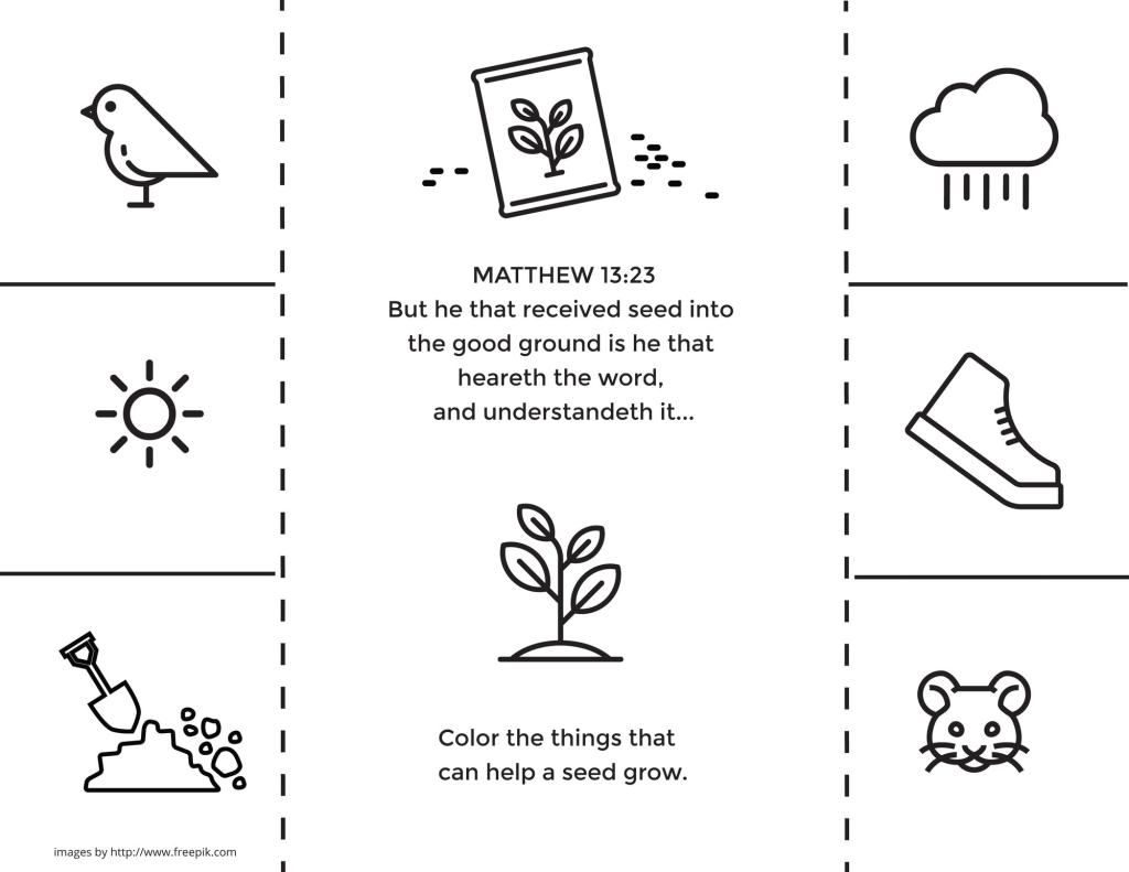 The Good Seed - Help your family better understand the principle of faith with this planting project. Get the free printable on the blog today!