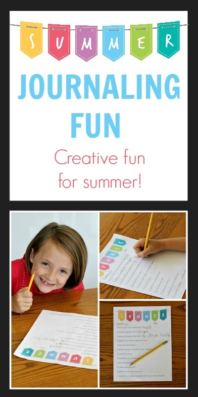 Keeping a summer journal is a fun and creative way to beat summer boredom. Get the free printable on www.orsoshesays.com.