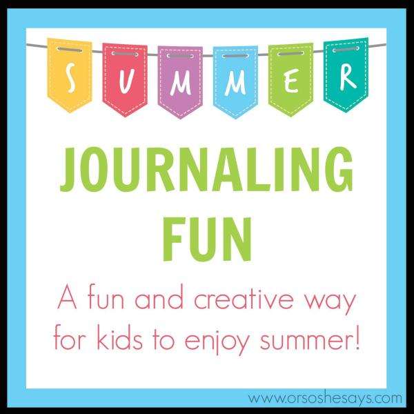 Summer Journaling! A fun and creative way to beat summer boredom.