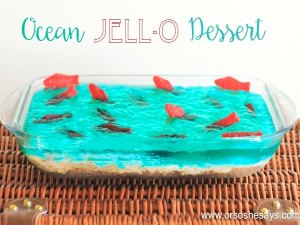"This ocean Jello Dessert is the perfect addition to your next summer party - Whether you're watching ""Finding Dory"" or sitting poolside yourself, it's sure to make a splash!"