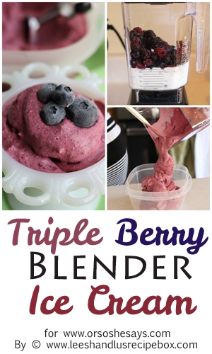 This 5-ingredient blender ice cream takes the fuss out of homemade ice cream. As an added bonus, you don't even have to wait for it to freeze! Get the recipe and how-to on www.orsoshesays.com
