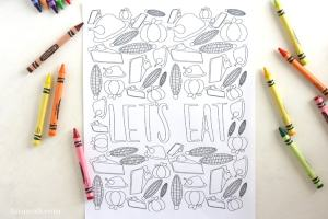 free printable Thanksgiving coloring page at lizoncall.com