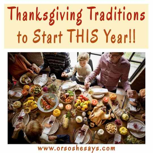I love these. Lots of unique ideas!! Thanksgiving Traditions to Start THIS Year!!