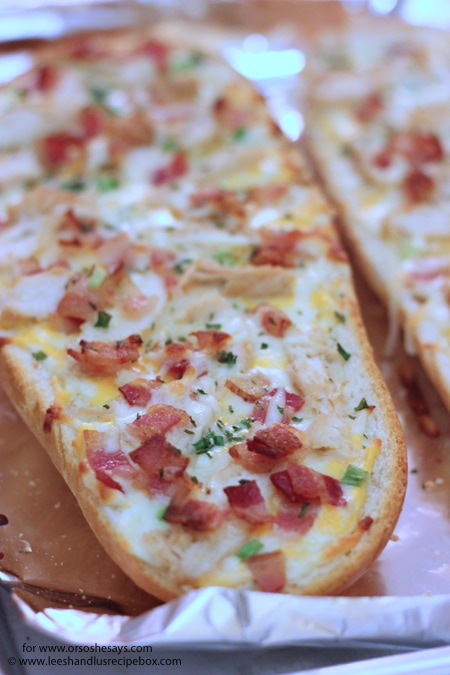 This French Bread pizza will save you at dinnertime! It comes together in a flash with only a handful of ingredients--and if you're like us, the ingredients are ones that you likely already have on hand.