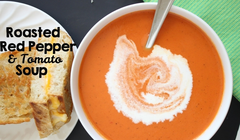 Think of this recipe as tomato soup's older, more sophisticated brother. The roasted red peppers in this tomato soup really give it an amazing flavor! Get the recipe at www.orsoshesays.com today.